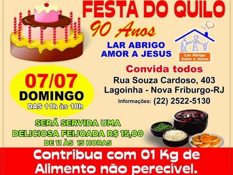 LAJE 90 Anos com a Festa do Quilo e Feijoada - 07/07