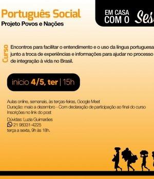 Oficina de Português Social para estrangeiros