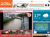 Cruz Vermelha de Nova Friburgo disponibiliza câmeras para monitorar o rio Bengalas.